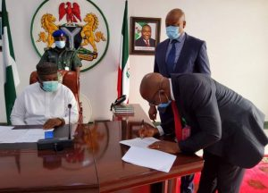 Governor Ugwuanyi inauguirates reconstituted Enugu State Judicial Service Commission