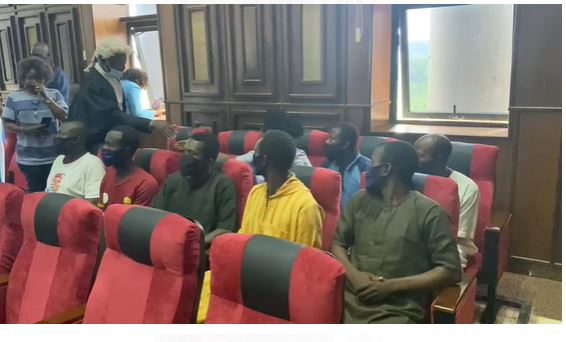 Latest Breaking News about Sunday Igboho in Nigeria Today: Sunday Igboho's aides arrive Federal High Court Abuja