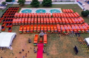Sanwo-Olu launches 102 locally assembled compactor trucks, 100 bins to boost waste collection