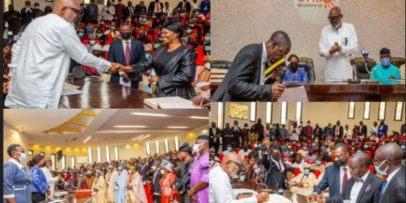 Akeredolu swears in Akintoroye as substantive Chief Judge