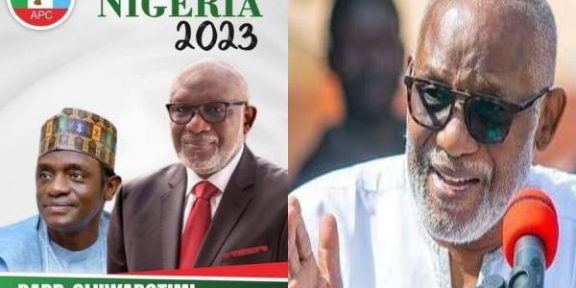 Latest news in Nigeria is that Akeredolu distances self from presidential election promotional activities