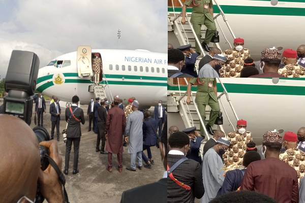 Buhari arrives Imo on one day official visit