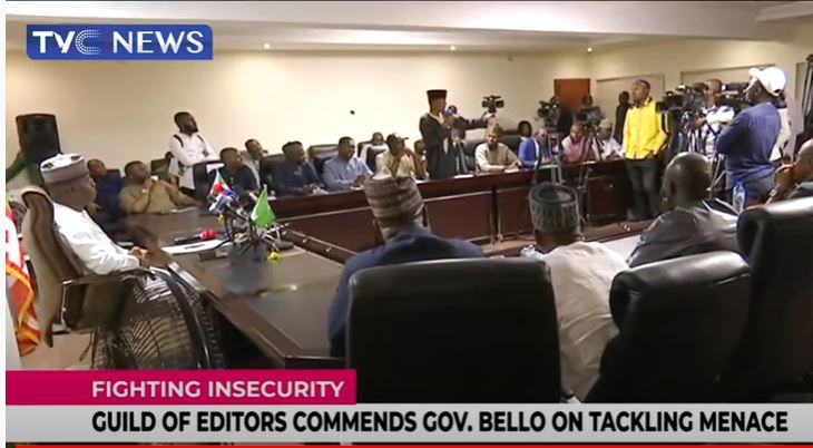 Guild Of Editors commends Gov Yahaya Bello on tackling insecurity