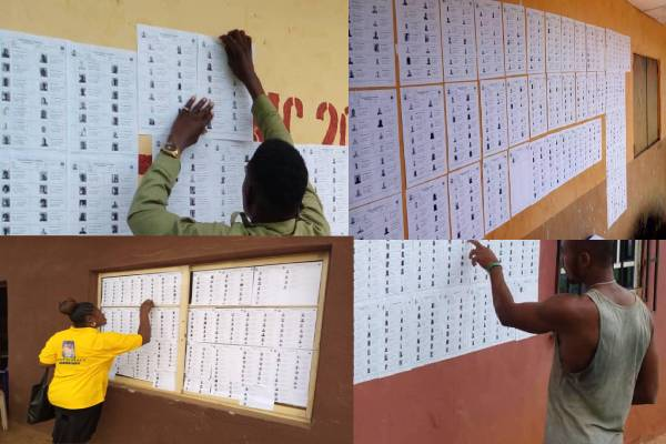 Latest news in Nigeria is that INEC displays preliminary Voters' register in Anambra