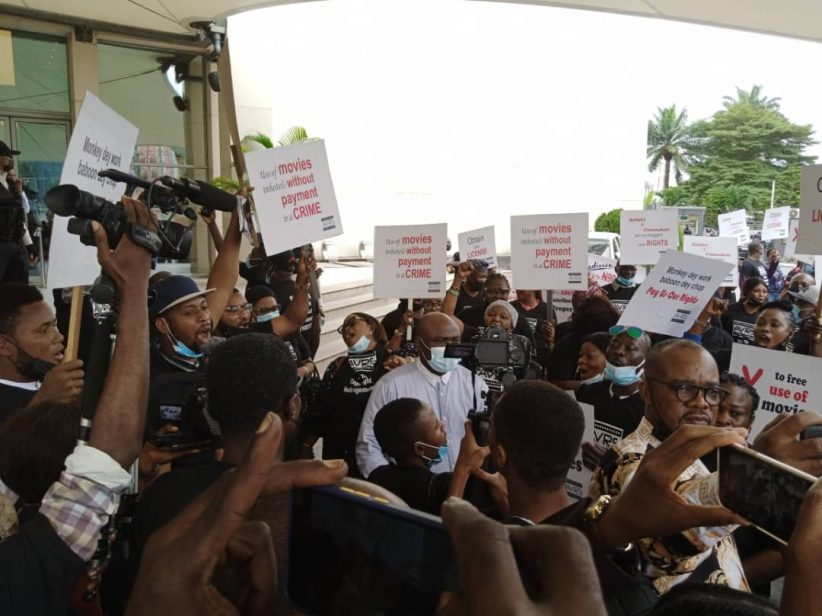 Nollywood practitioners protest illegal use of intellectual property by Radisson Blu hotel