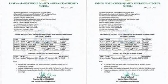 Latest news in Nigeria is that Kaduna Govt reopens primary, Secondary Schools