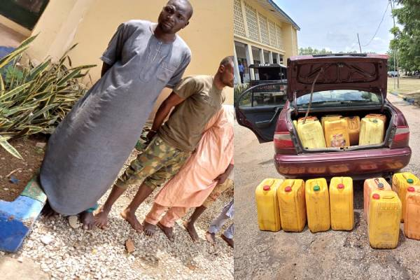 Man paraded for supplying fuel to bandits in Sokoto