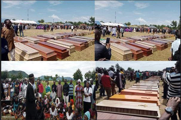 38 slain victims of bandits attack given mass burial in Kaduna