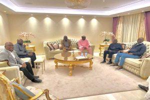 Latest Breaking News About Asiwaju Bola Ahmed Tinubu : Senators Abiru, Bamidele, Yayii, Others visit Asiwaju Tinubu in London