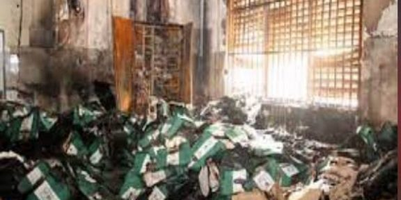 Latest Breaking News About INEC: Arsonists burn INEC's Office in Awgu, Enugu State