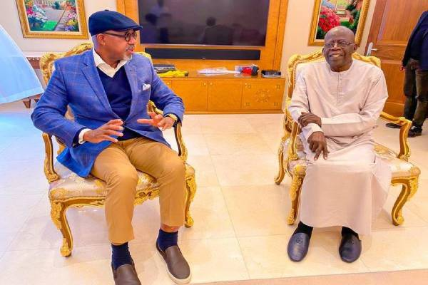 Latest Breaking News About Asiwaju Tinubu: Governor Abidoun visits Asiwaju Tinubu in London