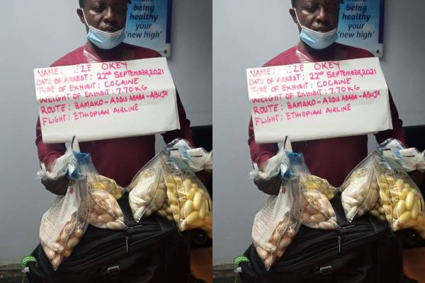 Latest Breaking News about NDLEA in Nigeria Today: NDLEA arrests trafficker with N2.3 Bn drugs at Abuja Airport