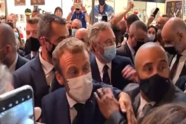 Latest Breaking International News Today: French President, Emmanuel Macron, hit with Egg in Lyon