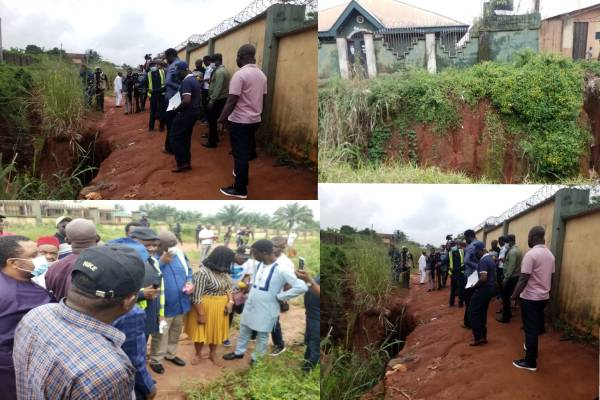 Reps Committee on Ecological Funds visits erosion site in Agbor