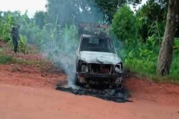 Latest news in Nigeria is that Three policemen killed as gunmen raid Delta checkpoint, set patrol van ablaze