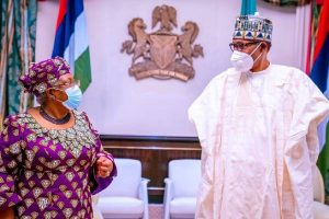 WTO DG, Okonjo-Iweala seeks Buhari's support for Africa's vaccine production