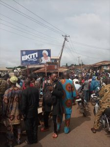 Residents of Ado Ekiti protest kidnap of four persons by suspected gunmen