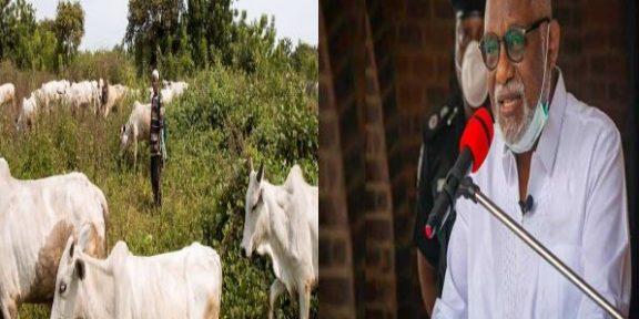 naija news happening now, Akeredolu on ranching system