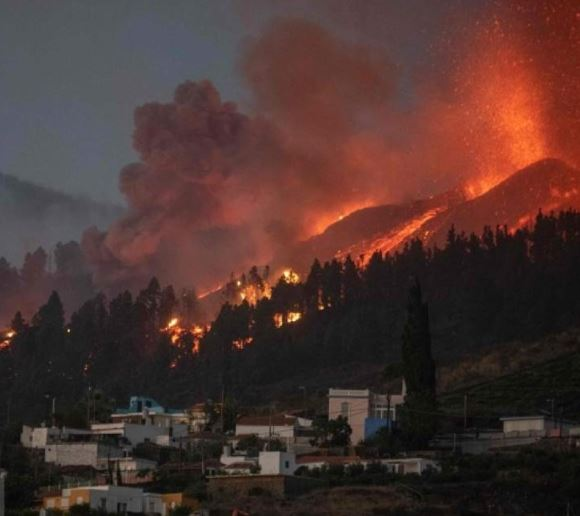 Thousands evacuated as Volcano erupts on La Palma's Canary Island in Spain