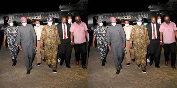Breaking: Tinubu returns, thanks President Buhari, Speaker, Governors