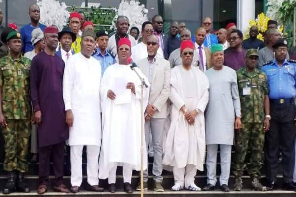 Latest reaking Political News In Nigeria Today: Siouth East Governors, Leaders urge residents to reject IPOB