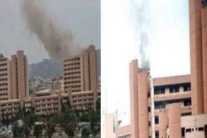 Latest Breaking News From Abuja{: Fire guts part of Federal Secretariat, Abuja