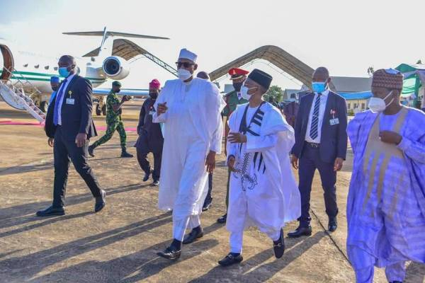 Latest Breaking News About The NDA: President Buhari arrives Kaduna for NDA passing out Parade
