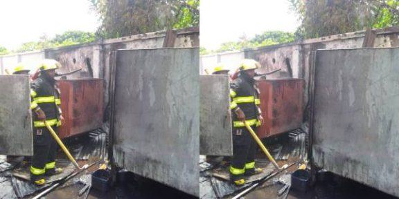 Latest Breaking News in Nigeria Today : Lagos Fire Service puts out Fire at bank Building in Badagry