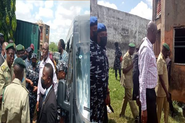 Jail break: Gov Makinde visits Abolongo prison, inspects facility, says no high profile individual taken away