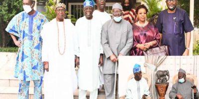 PHOTOS: Afenifere leaders visit Tinubu in Lagos