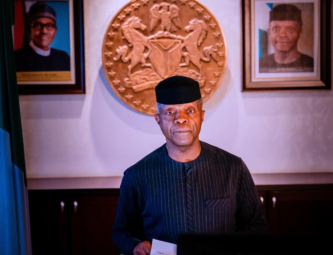 Photos: Osinbajo virtually declares open 27th Nigerian Economic Summit