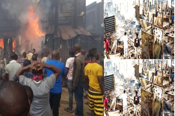 Sagamu traders protest delay in reconstruction of burnt Sabo market