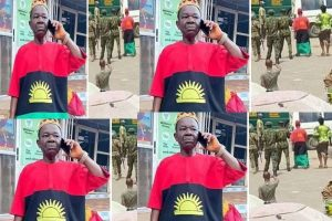 Soldiers arrest popular Nollywood actor, Chiwetalu Agu for wearing Biafra outfit