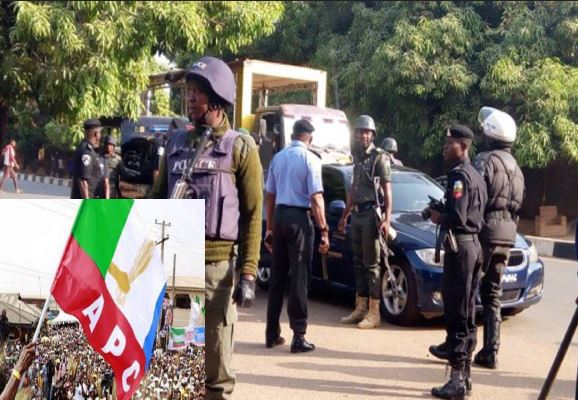 JUST IN: Security agents takeover Taraba APC office