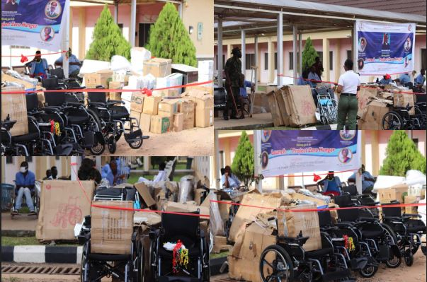 Wounded troops receive wheelchair, other materias in Kaduna