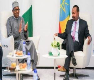 President Buhari arrives Addis Ababa for PM Abiy Ahmed's inauguration